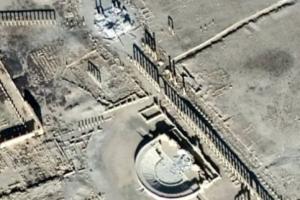 روسيا تبث صور لأثار تاريخية مدمرة في تدمر