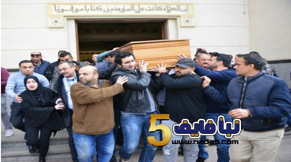 2017 02 23 135924 - بالصور أبنة صلاح رشوان تنهار في جنازة والدها الفنان صلاح رشوان