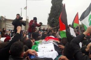 تشيّع جثمان الشّهيد الفلسطيني باسل الأعرج يوم امس الجمعة