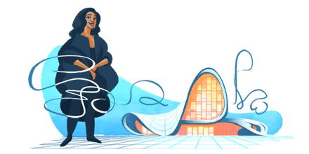 محرك بحث جوجل يحتفل بذكرى تكريم المهندسة الراحلة زها حديد