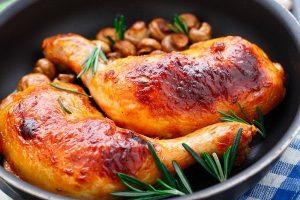 طريقة إعداد دجاج محمر بالفرن