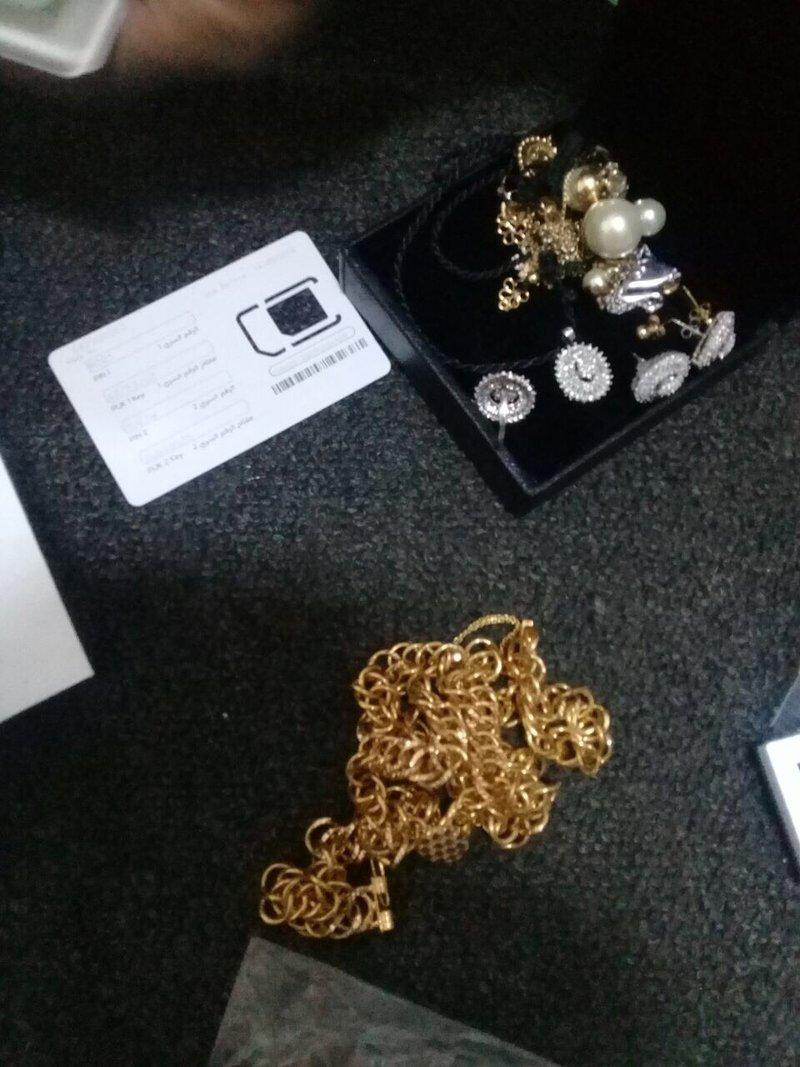 المجوهرات التى عثر عليها السودانى