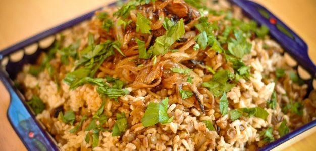 بالطريقة الشامية كيفية اعداد المجدرة بالأرز