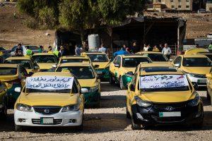أصحاب التكاسي الصفر ينقلون إضرابهم إلى  رئاسة الوزراء والأمن العام يمنعهم