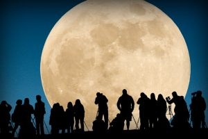 ظهور القمر البدر العملاق في سماء الممكلة الاردنية الهاشمية