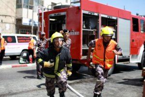 حريق شقة سكنية بمنطقة الجندويل في العاصمة عمّان