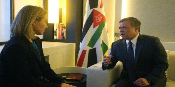 فريديريكا موغريني توجة رسالة للملك عبد الله الثاني تسببت بإسعاد الأردنيين