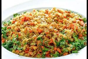 طريقة عمل أرز بالخضار واللحم المفروم