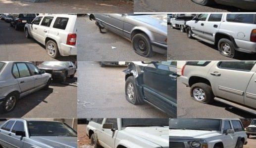 القبض على شخص أقدم على تخريب إطارات مركبات في اربد بشارع فلسطين
