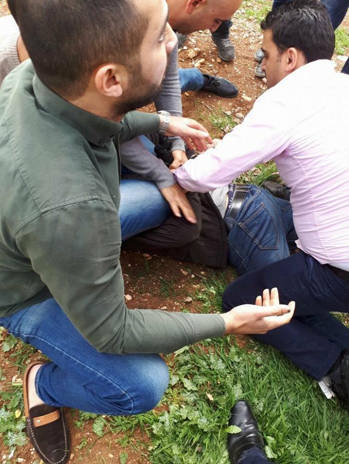 image 1 - شاهد بالفيديو لحظة إلقاء القبض على منفذ عملية سطو البنك العربي في عمّان