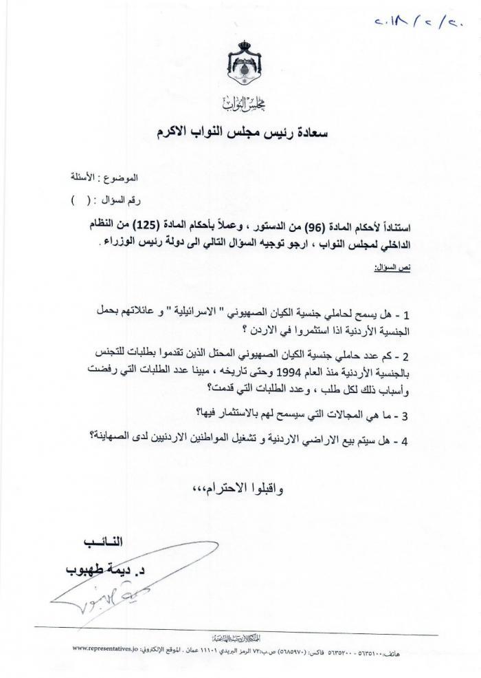 image 4 - هل من المحتمل تجنيس الصهانية المستثمرين في الاردن