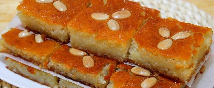شاهد بالفيديو طريقة صنع النمورة بالنكهة السورية