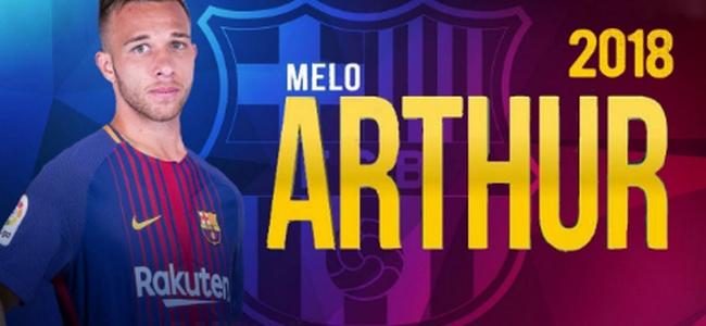آرثر ميلو نجم جريميو رسميا الى صفوف برشلونة
