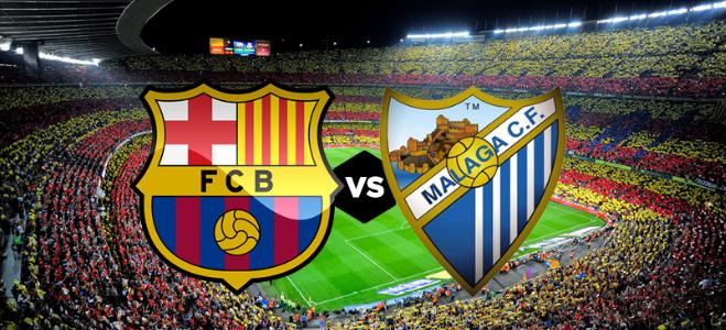مباراة برشلونة وملقا بث مباشر اليوم