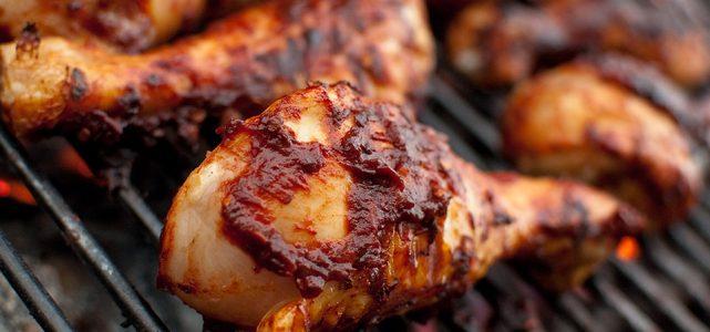 أفخاذ الدجاج المشوية على الطريقة الهندية