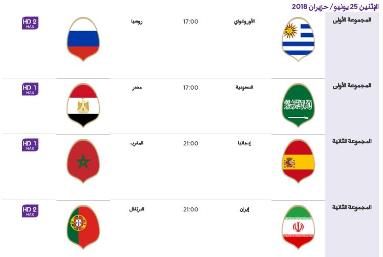 10 - جدول مباريات كأس العالم لعام 2018