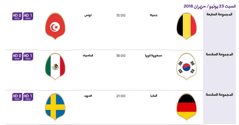 8 - جدول مباريات كأس العالم لعام 2018
