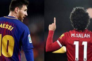 محمد صلاح يطيح بميسي كأفضل لاعب فى العالم