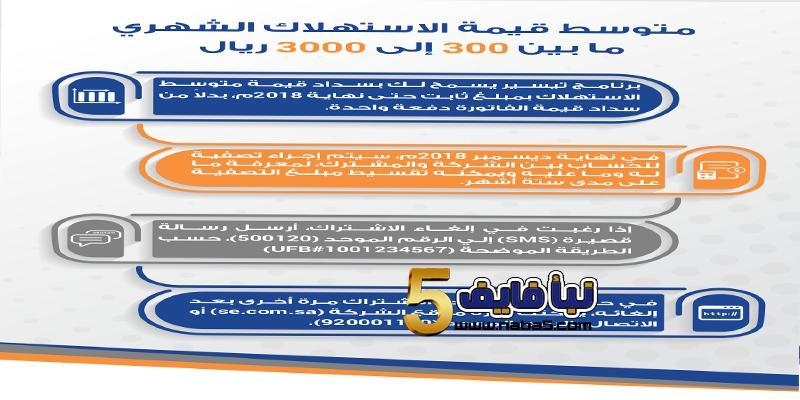 برنامج تيسير لسداد فواتير الكهرباء