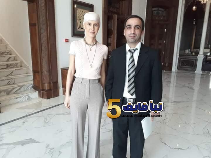 bd8afe721297a5ef7b96c524fd103b521538804622 - بالصور آثار العلاج تظهر على  أسماء الأسد