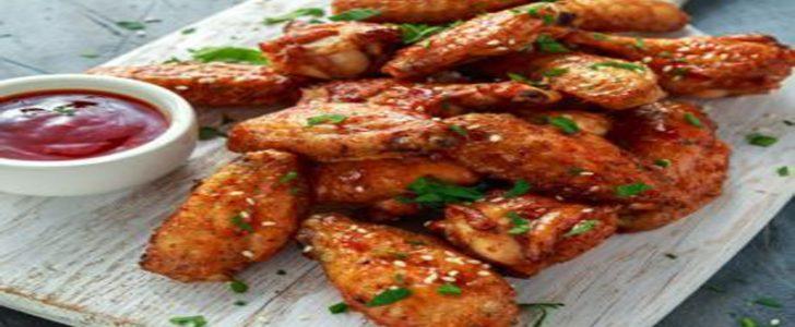 أجنحة الدجاج الحمراء بالصوص استمتعي بالطعم الخطييير